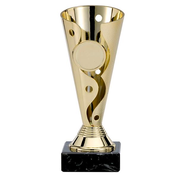 Trofee met ronde en sierlijke patronen goud