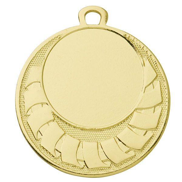 Goedkope medaille met blokjes goud