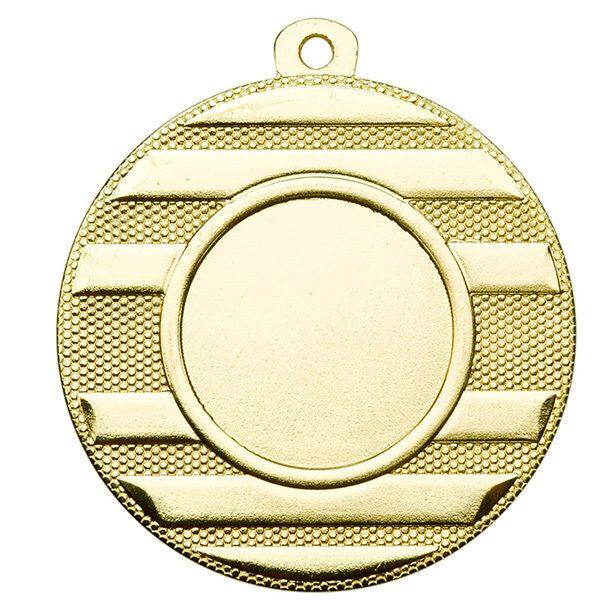 Goedkope medaille met horizontale lijnen goud