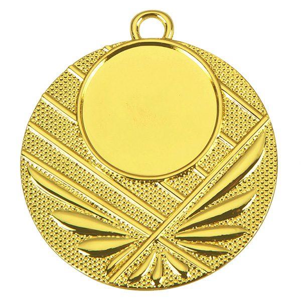 Goedkope medaille met lijnen goud
