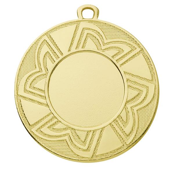 Goedkope medaille met lijntjes goud
