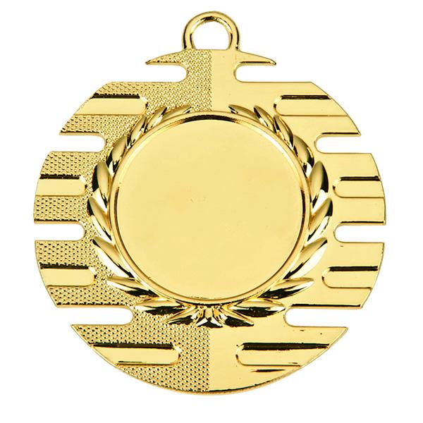 Goedkope medaille met open strepen goud