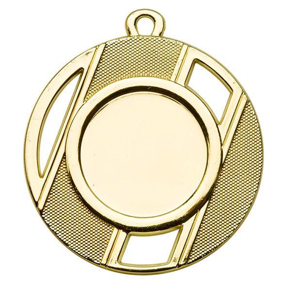 Goedkope medaille met open vierkantjes goud