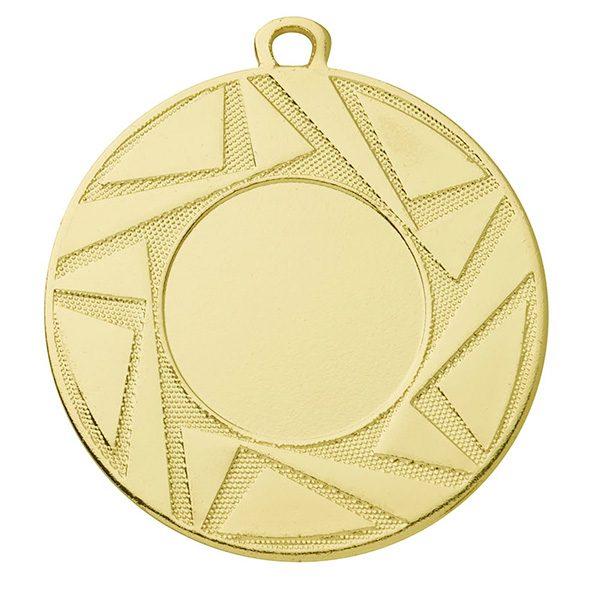 Goedkope medaille met sierlijk ontwerp goud