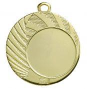 Goedkope medaille met strepen en lijnen goud