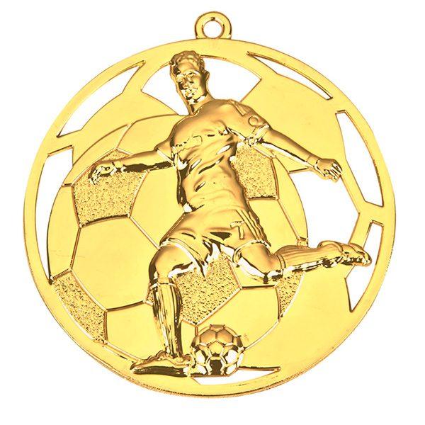 Goedkope voetbal medaille 2 goud