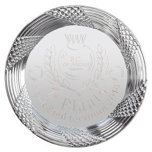 Grote zilveren kampioensschaal met prachtige detail