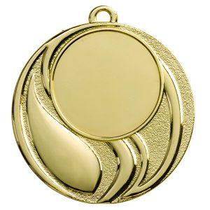 Medaille met sierlijke strepen goud