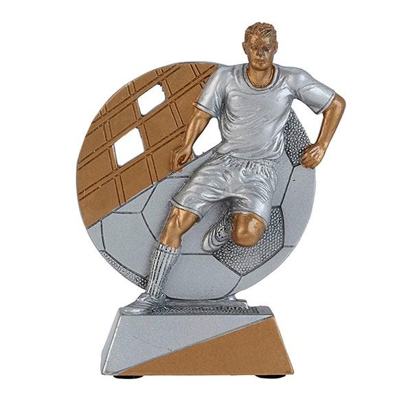 Voetbal beeldje heren goud-zilver