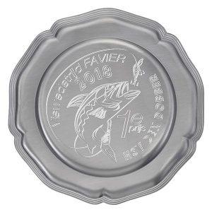 Zilveren Kampioensschaal met drie strepen rondom