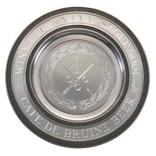 Zilveren Kampioensschaal met dubbele versieringen