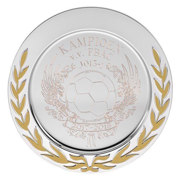 Zilveren Kampioensschaal met gouden krans