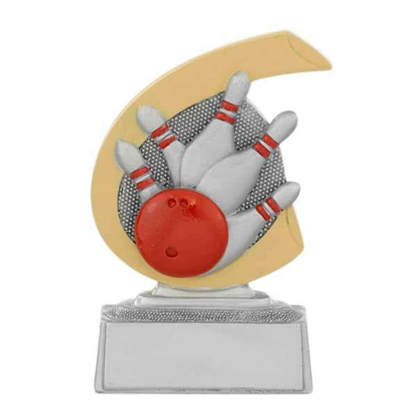 Bowling beeldje met gouden detail
