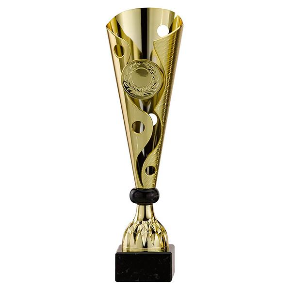 Gouden trofee met sierlijke details