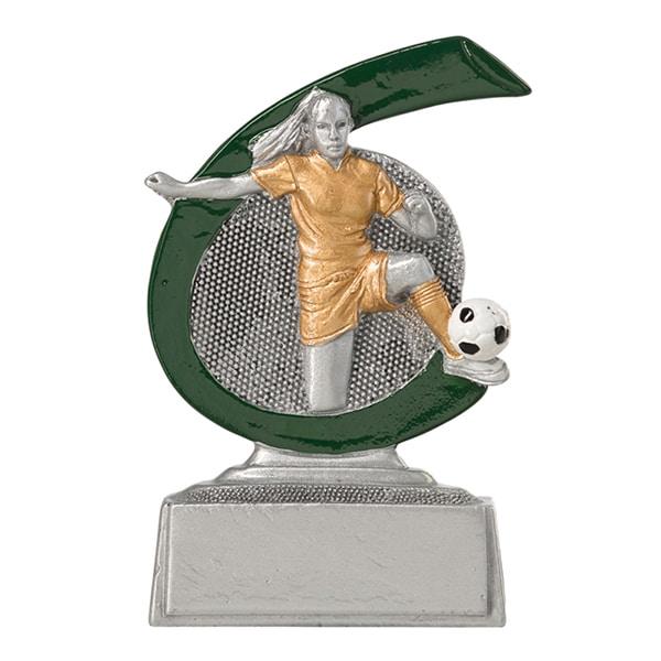 Kleine voetbal beeldje dames