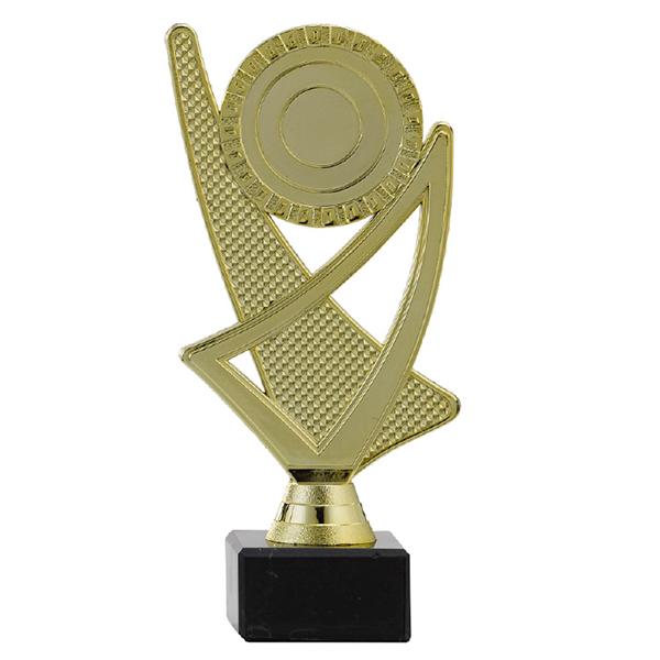 Trofee met een open ontwerp goud