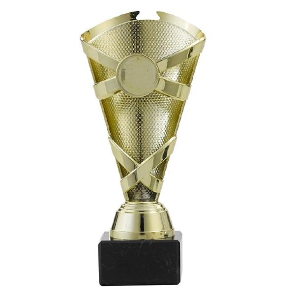 Trofee met lijnen en gedetailleerde patroon goud