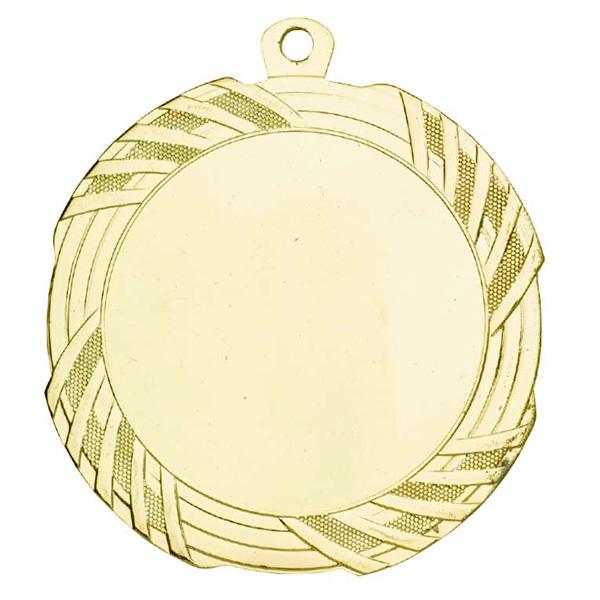 Grote Medaille met sierlijke strepen goud