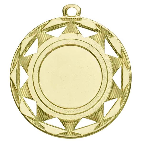 Medaille met sierlijke details goud