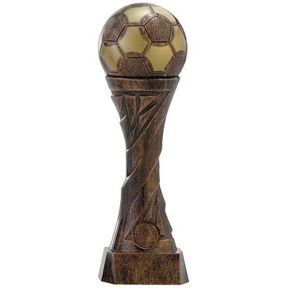 Voetbal beeld met bal als detail