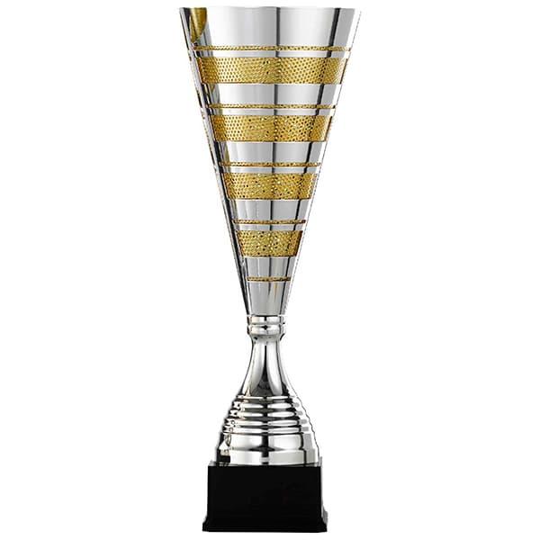 XXL Zilveren trofee met gouden details