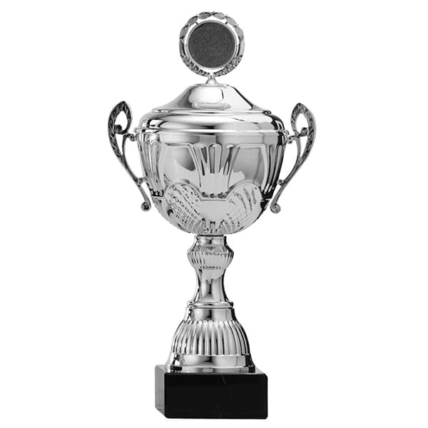 Zilveren trofee met mooie details