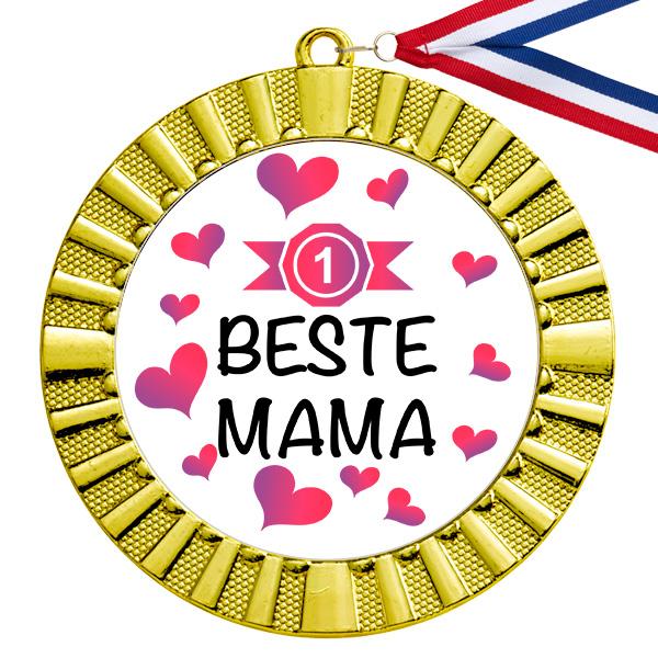 Beste Mama gouden medaille
