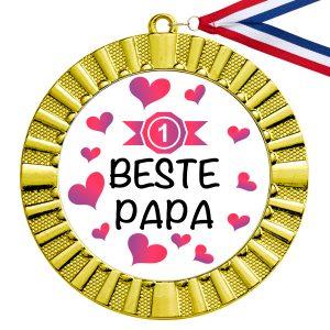 Beste Papa gouden medaille