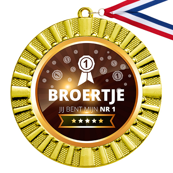 Beste broertje gouden medaille