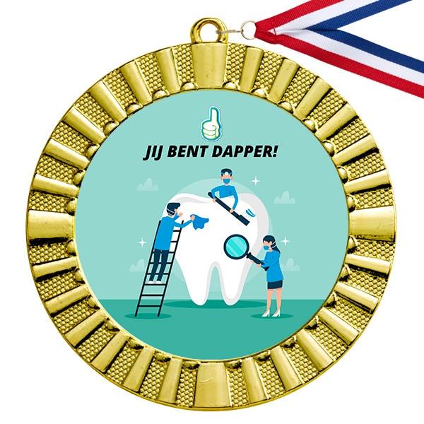 Dapperheidsdiploma medaille tandarts