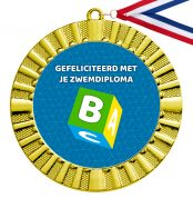 Gefeliciteerd met je zwemdiploma B medaille goud
