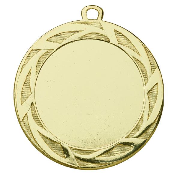 Grote medaille met meerdere strepen rondom goud