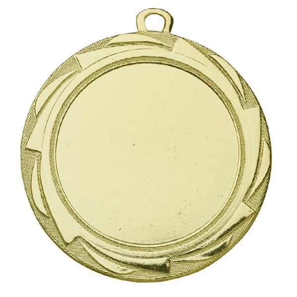 Grote medaille met strepen rondom goud