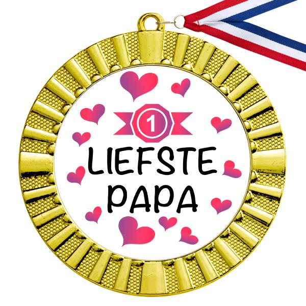 Liefste papa gouden medaille