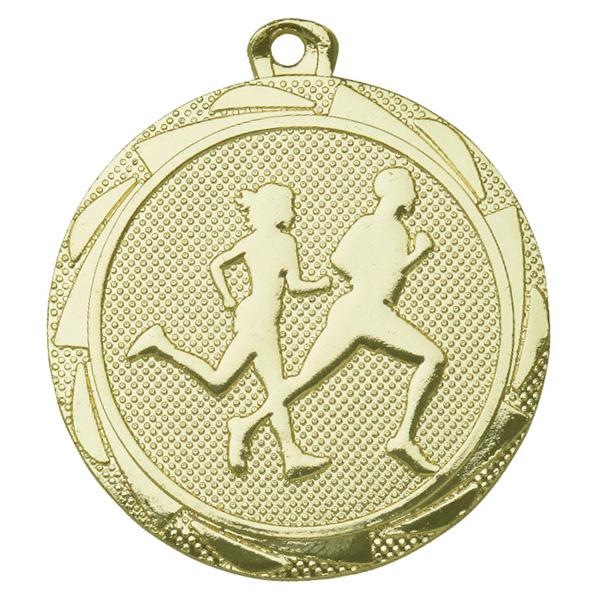 Medaille hardlopen goud