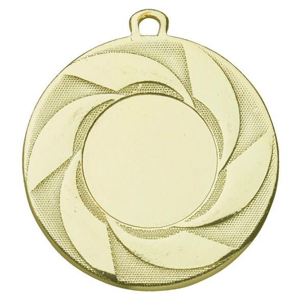Medaille met draaiende strepen goud