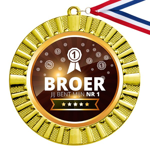Nummer 1 Broer gouden medaille