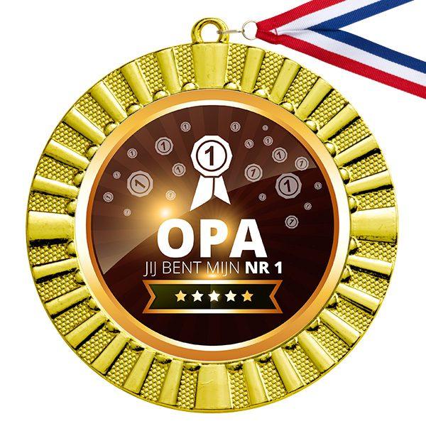 Nummer 1 Opa gouden medaille