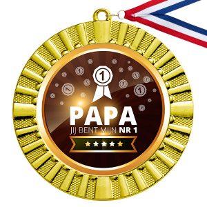Nummer 1 Papa gouden medaille