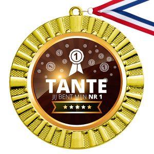 Nummer 1 Tante gouden medaille