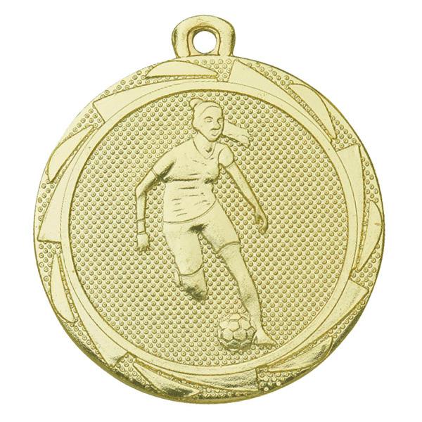 Voetbal medaille dames goud