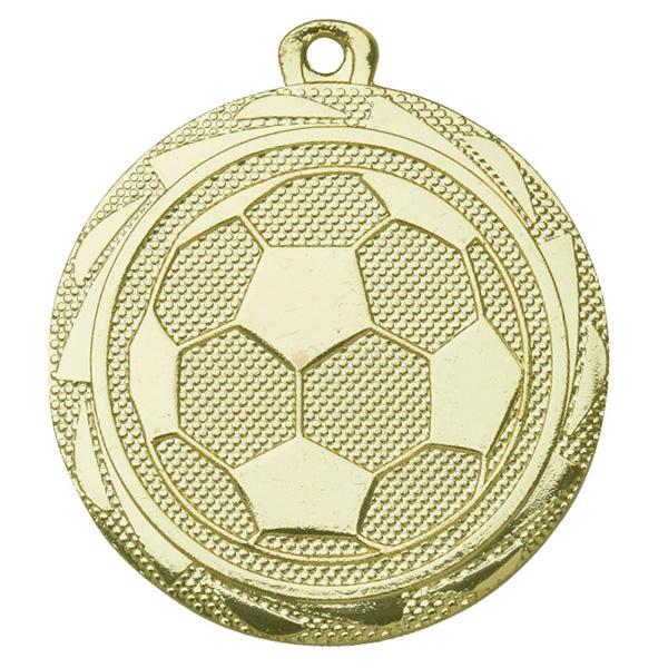 Voetbal medaille met bal goud