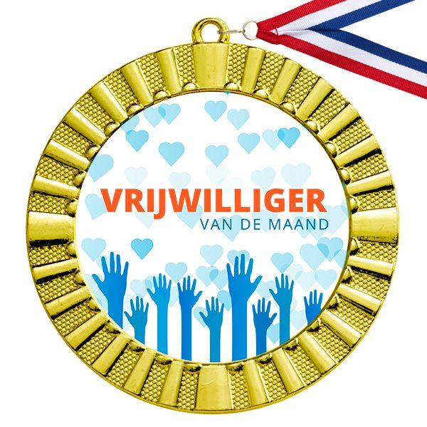 Vrijwilliger van de maand gouden medaille