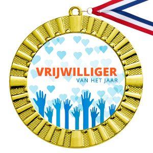 Vrijwilliger van het jaar gouden medaille