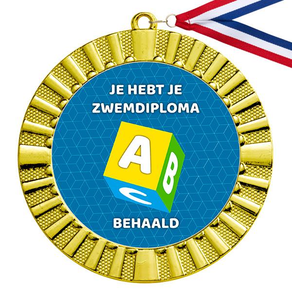 Zwemdiploma A medaille goud