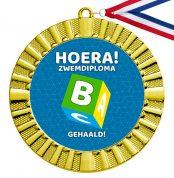 Zwemdiploma B cadeau medaille goud