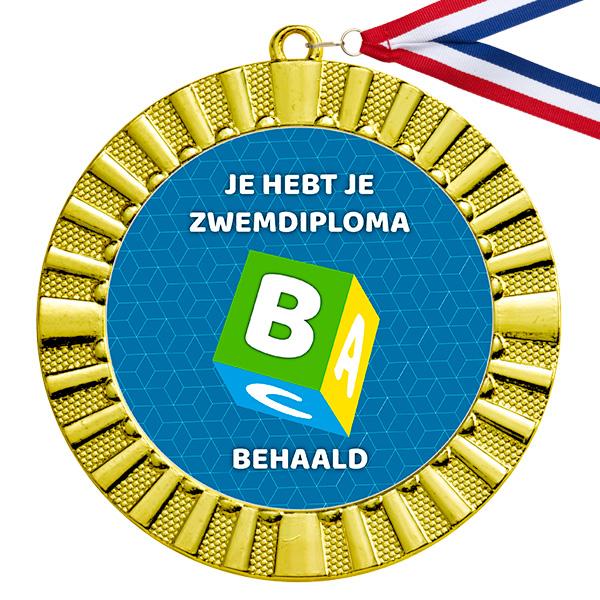 Zwemdiploma B medaille goud