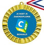 Zwemdiploma C medaille goud