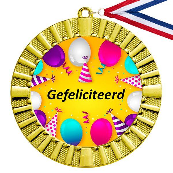 Medaille gouden gefeliciteerd