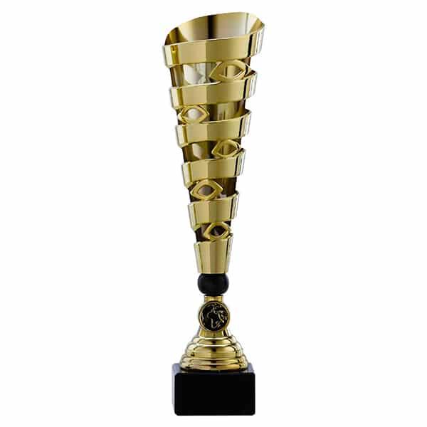 Gouden trofee met details